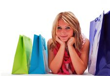 Free Shopping Girl Stock Images - 17821904