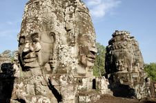 Free Bayon Face, Cambodia Royalty Free Stock Photography - 17821977
