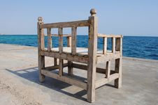 Bench At The Sea Stock Photos