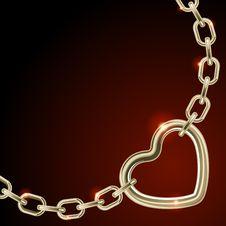 Free Heart Shape On Chain Royalty Free Stock Photos - 17822688