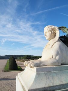 Free White Sphinx Statue At Versailles Castle France Royalty Free Stock Photography - 17823447