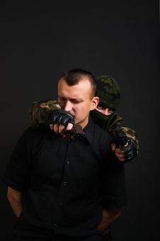 Free Terrorist And Hostage Royalty Free Stock Photography - 17823687