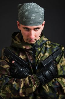 Free Armed Terrorist Stock Image - 17823751