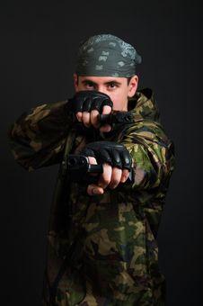 Armed Terrorist Stock Images