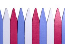 Free Row Of Markers Stock Image - 17823841