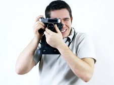 Free Man With Camera. Stock Image - 17824081