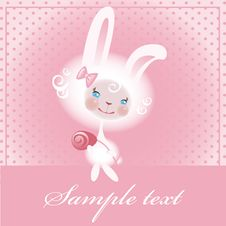 Free Beloved Bunny With A Rose Royalty Free Stock Image - 17826036