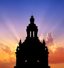 Free Chambord Castle Sunset Stock Photography - 17826162