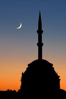 Turkish Mosque Sunset Stock Image