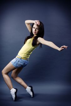 Stylish And Cool Looking Dancer Girl Stock Photos