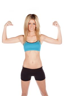 Free Woman Fitness Showing Muscles Stock Photos - 17826443