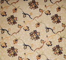 Brown Flower Textile Background Stock Photos