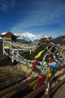Tibetan Banner Stock Photo