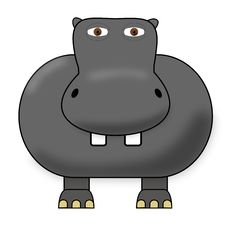 Cute Hippo Stock Images
