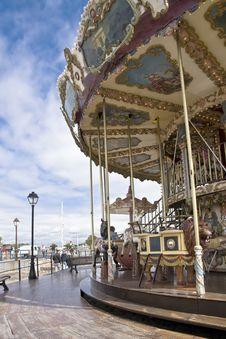 Free Antique Carousel. Honfleur Royalty Free Stock Photos - 17827368