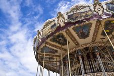 Antique Carousel. Honfleur Royalty Free Stock Photography