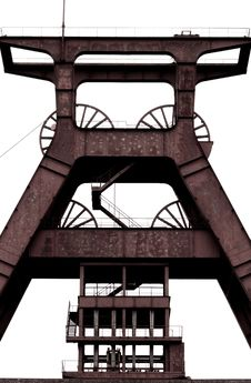 Colliery Winding Tower Stock Photo