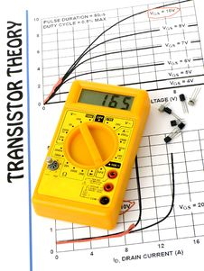 Free Multimeter And Transistors Theory Stock Photo - 17827840