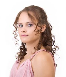 Free Curly Hair. Royalty Free Stock Photo - 17828185