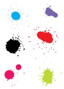 Free Color Blots Royalty Free Stock Photos - 17828228
