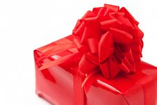 Free Red Gift With Big Ribbon Stock Image - 17828431
