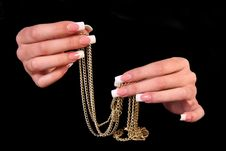 Free Human Fingers With Long Fingernail And Beautiful M Royalty Free Stock Photo - 17828505
