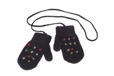 Knitted Baby Mittens Stock Image