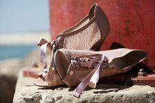Free Shoes On Beach Royalty Free Stock Images - 17828939