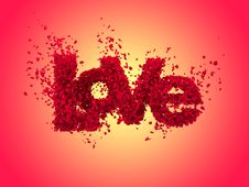 Free Love From Roses In Warm Colours Royalty Free Stock Images - 17829159