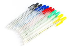 Colored Ballpoint Pens Stock Images