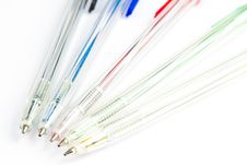 Colorful Ballpoint Pens Stock Image