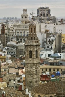 Free Tower Santa Catalina Church, Valencia. Royalty Free Stock Photography - 17829287