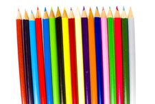 Free Sharpened Tips Of Bright Coloring Pencils Stock Images - 17829314