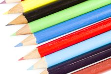 Free Tips Of Colorful Drawing Pencils Royalty Free Stock Photos - 17829358