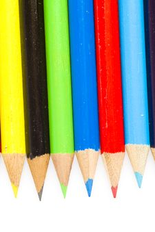 Tips Of Coloring Drawing Pencils Stock Images