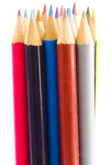 Free Collection Of Coloring Pencil Tips Stock Photos - 17829413