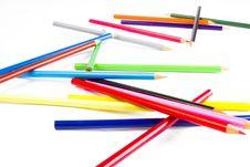Free Coloring Pencils Stock Photos - 17829443