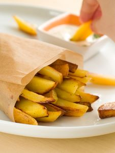 Free Fried Potatoes Stock Photography - 17829492