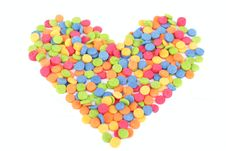 Free Colorful Candy Heart For Valentine S Day Stock Photos - 17829573
