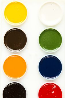 Free Watercolor Paint Palette Royalty Free Stock Image - 17829636