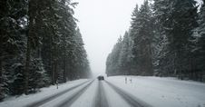 Free Road Under Snow Stock Photo - 17829790