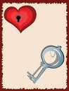 Free Key And Heart,CMYK Stock Images - 17830514