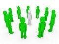 Free 3d Human Circle Green White Stock Image - 17833281