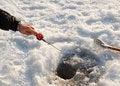Free The Fisherman On Winter Fishing Stock Photos - 17834173