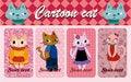 Free Cartoon Cat Card Royalty Free Stock Image - 17834696