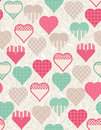 Free Wrapping Paper With  Hearts, Stock Photography - 17837692