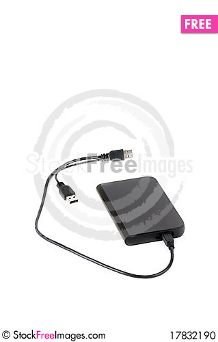 Free Portable External Hard Disk Drive Stock Photo - 17832190