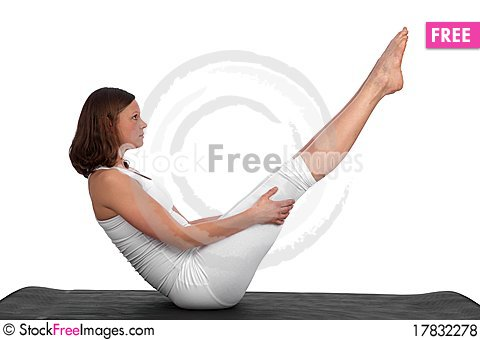 Free Fit, Young Caucasian Woman Exercising Royalty Free Stock Photos - 17832278