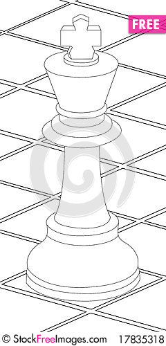 Chess King Coloring Pages