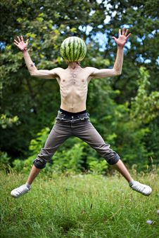 Free Jumping  Watermelon Stock Photos - 17831033